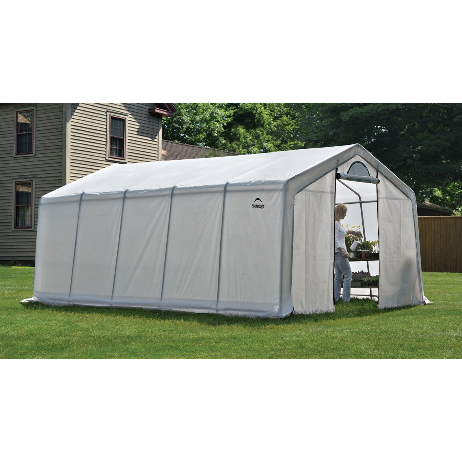 GrowIt Greenhouse-In-A-Box Pro Peak-Style, 12' x 20' x 8'