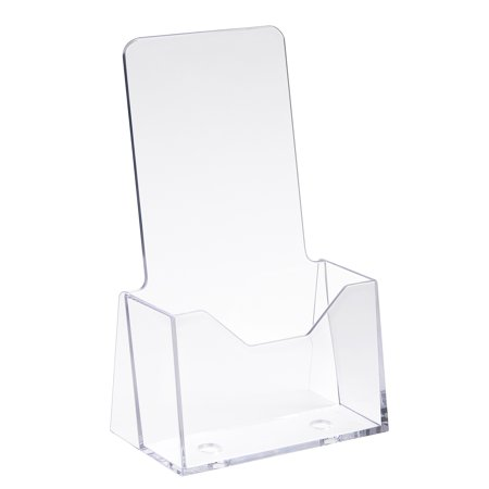 - 9 in. H x 4 in. W Clear Styrene Counter Top Literature Holder (Pack of 24)