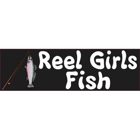 Magnetic Vinyl Car Sign - 10in x 3in Reel Girls Fish Magnet Car Door Magnetic Truck Sign Magnets