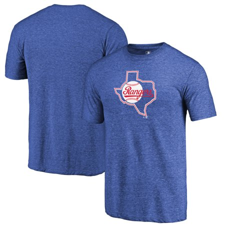 Texas Rangers Fanatics Branded Cooperstown Collection Huntington Tri-Blend T-Shirt - - Ringer Tri Blend T-shirt