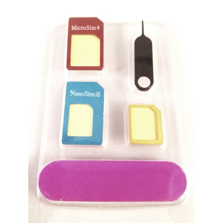 5-in-1 Metal SIM Card Adapter Converter Set, Nano to Micro or