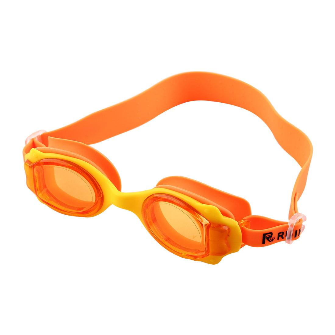 Adjustable Belt Anti Fog Swim Glasses Swimming Goggles Orange for Kids Children by