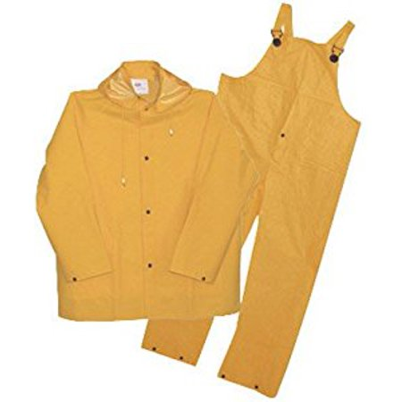 Polyester 3 Piece Suit (Boss Yellow PVC-Coated Polyester Three Piece Rain Suit)