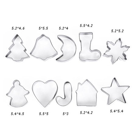Jeobest Christmas Cookie Cutter Set - Multifunctional Holidays Christmas Stainless Steel Cookie Cutters Molds for Making Muffins Biscuits Sandwiches DIY Cake Decoration Molds Cutters MZ ()