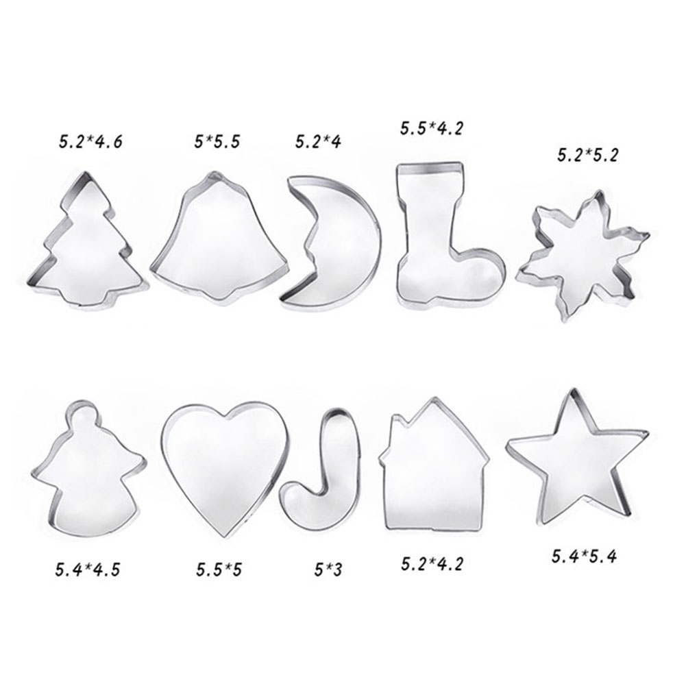 Jeobest Christmas Cookie Cutter Set - Multifunctional Holidays Christmas Stainless Steel Cookie Cutters Molds for Making Muffins Biscuits Sandwiches DIY Cake Decoration Molds Cutters MZ