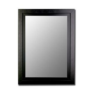 black finish wall mirror size 40 x 80