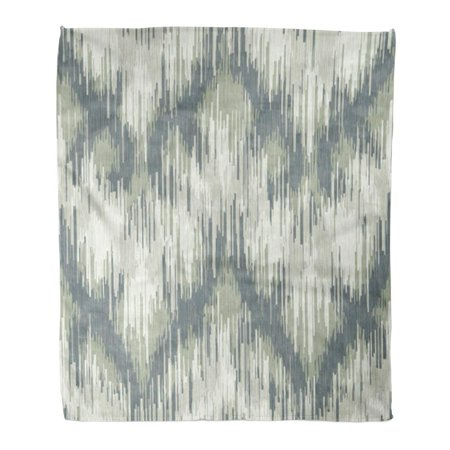 ASHLEIGH Throw Blanket Warm Cozy Print Flannel Accessory Abstract Trellis Pattern All Bunting Comfortable Soft for Bed Sofa and Couch 58x80
