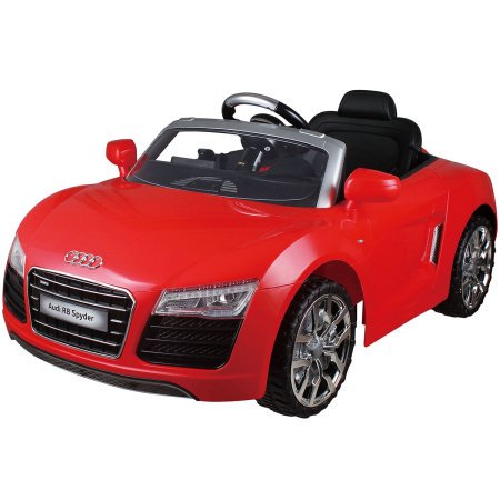 costway red audi kids 12v electric ride on car with mp3 rc remote control car