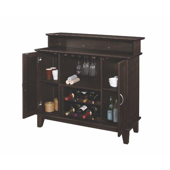 Coaster Company Home Bar With Wine And Stemware Storage Cuccino
