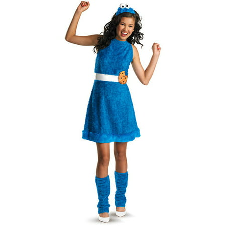 Cookie Monster Teen Halloween Costume (Halloween City Cookie Monster)