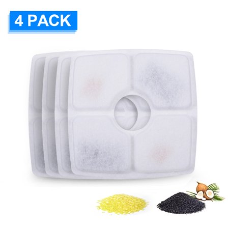 Cat Water Fountain Filters Replacement Filters for Pet Flower Veken Fountain Cat Water Fountain 4PCS - image 1 of 7