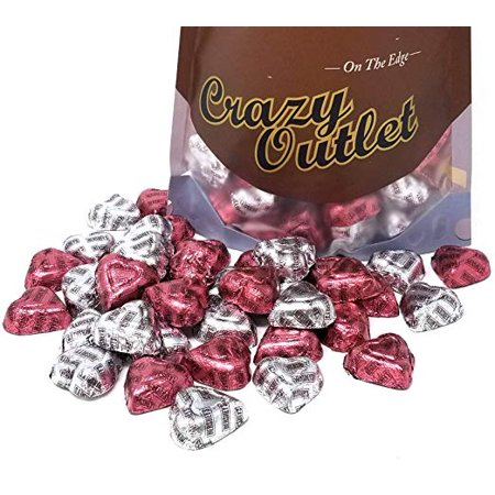 Hershey's Extra Creamy Milk Chocolate Hearts, Valentines Day Candy, 3 pounds bag