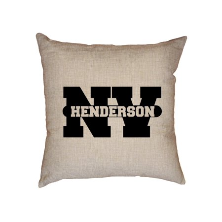 Party City Henderson Nevada (Henderson, Nevada NV Classic City State Sign Decorative Linen Throw Cushion Pillow Case with)