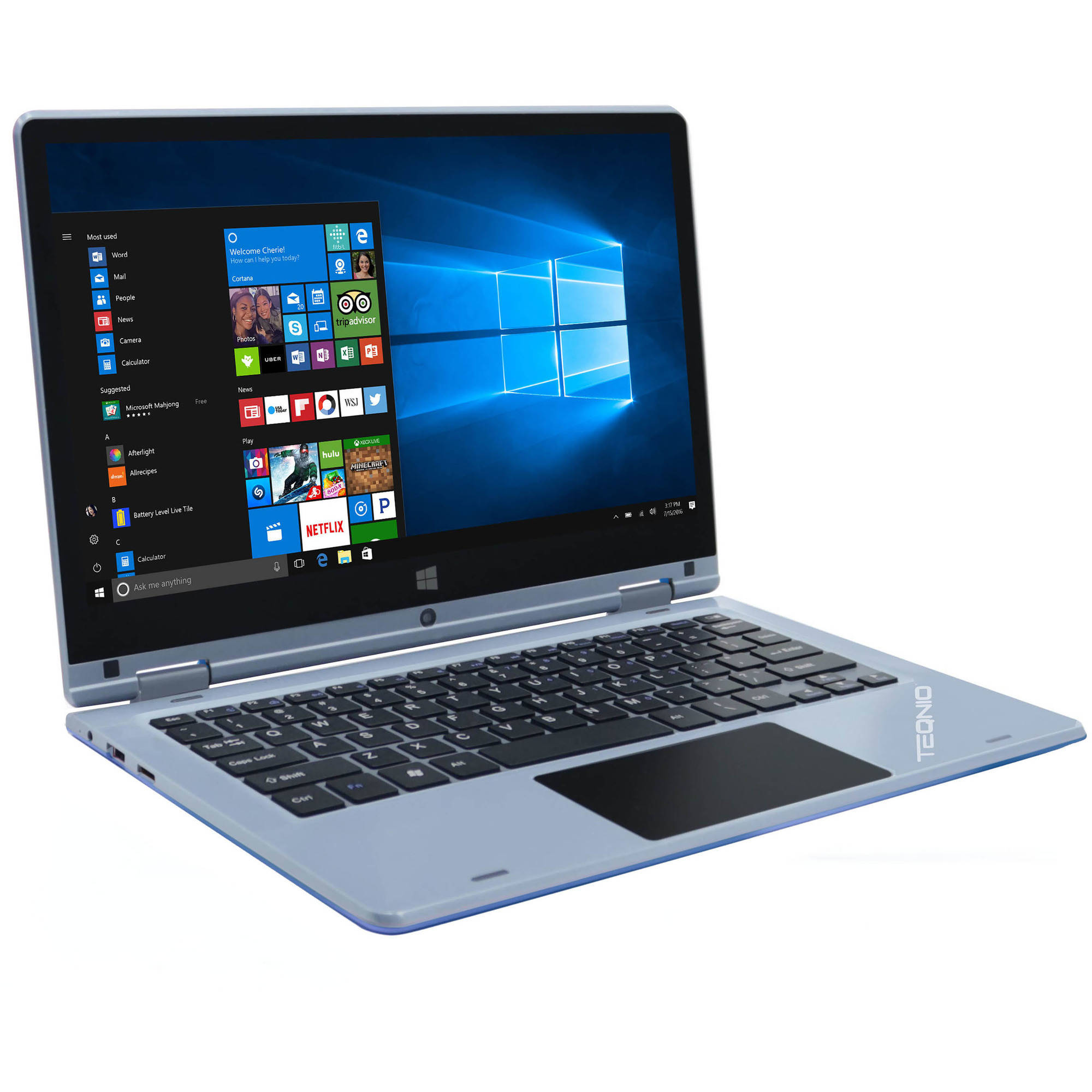 "Teqnio ELL1103T 11.6"" Laptop, Touchscreen, 2-in-1, Windows 10 Home, Intel Cherrytrail Z8350 Processor, 2GB RAM, 32GB Flash Drive"