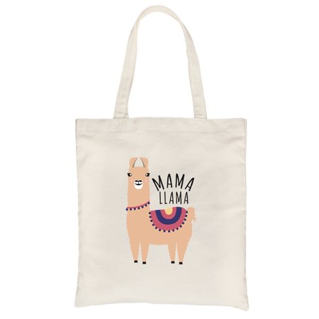 Magma Bags - Mama Llama Natural Heavy Cotton Canvas Bag Unique Mothers Day Gifts