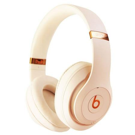 0922b765486 Beats Studio3 Wireless Series Over-Ear Headphones - Porcelain Rose  (MQUG2LL/A) (Refurbished) - Walmart.com