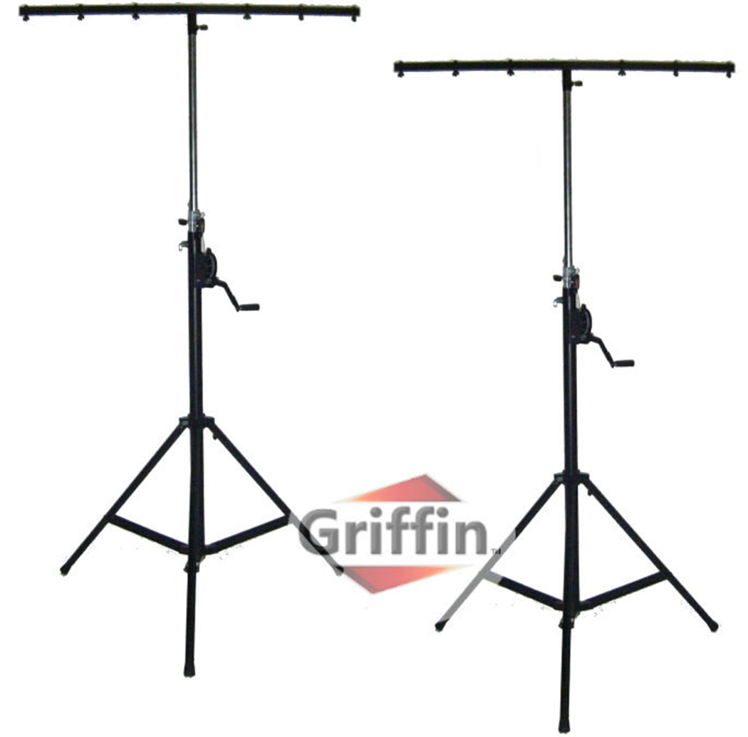 Crank Up Dj Light Stands (2 Pack) Stage Lighting Truss System by Griffin Portable Speaker... by Griffin