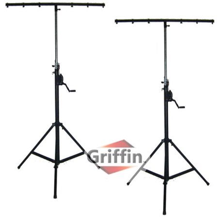 Crank Up Dj Light Stands 2 Pack Stage Lighting Truss System By Griffin Portable