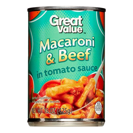 Great Value Macaroni & Beef, 15 oz