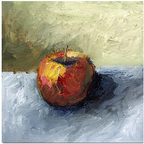 """Trademark Fine Art """"Apple Still Life with Grey and Olive"""" Canvas Art by Michelle Calkins"""