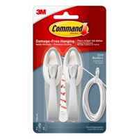 Command Cord Clip, Flat with Adhesive, Clear, 4-Pack