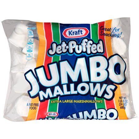(3 Pack) Jet-Puffed Jumbo Mallows Marshmallows, 24 oz Bag