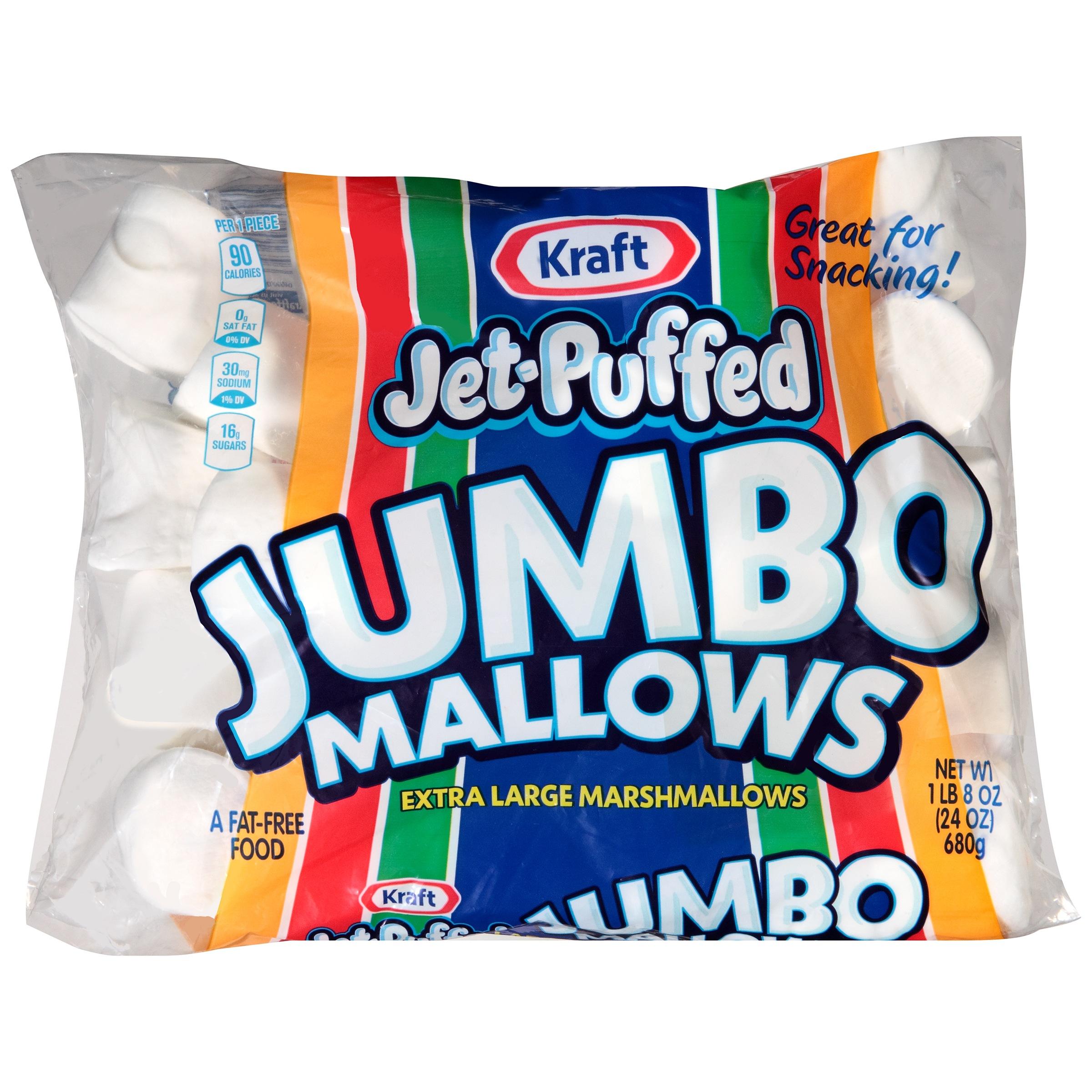 (3 Pack) Jet-Puffed Jumbo Mallows Marshmallows, 24 oz Bag