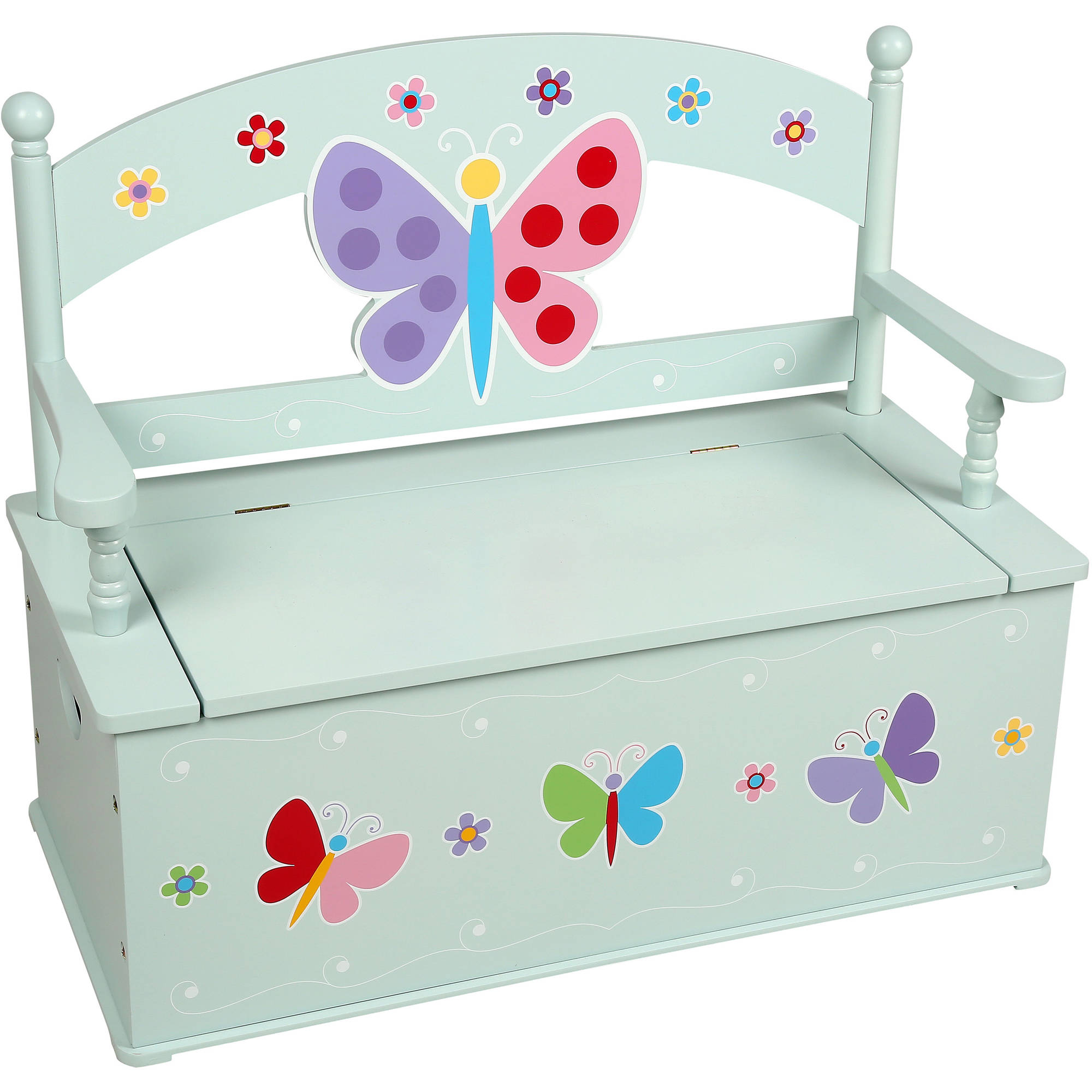 Olive Kids Butterfly Garden Bench Seat with Storage