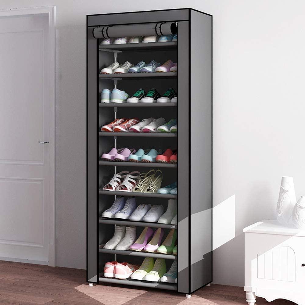 10 Tiers Shoe Rack Dustproof Cover Closet Shoe Storage Cabinet Organizer