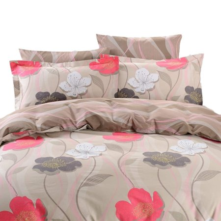 Dolce Mela  Sparti 6-piece Cotton Duvet Cover Bedding Set with Fitted Sheet