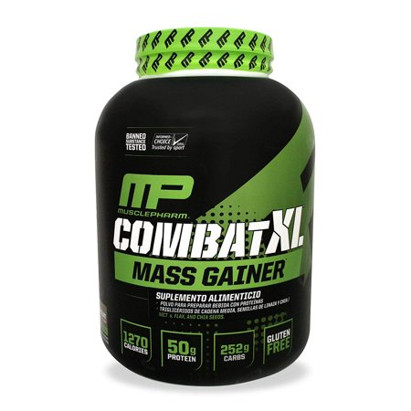 MusclePharm Combat XL Mass Chocolate, Brown, 6 Pound, Gluten free By Muscle Pharm (Pound Jerky)
