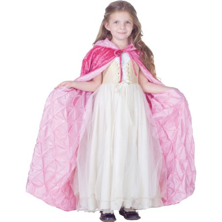 Morris costumes UR25917 Cape Child Pink Panne Velvet
