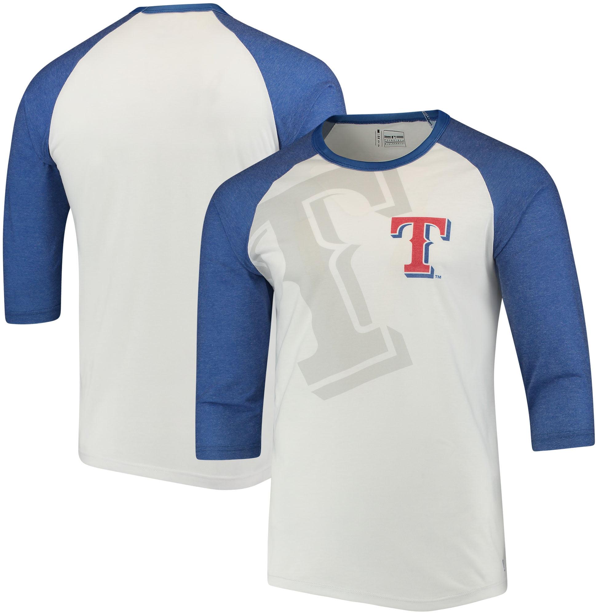 Texas Rangers Baseball 3/4-Sleeve Raglan T-Shirt - White/Royal