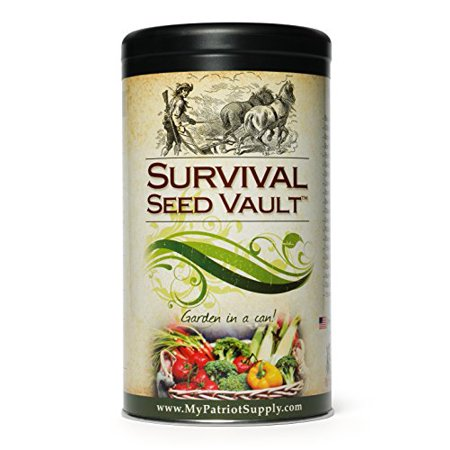 Heirloom Flower Bulbs - Survival Seed Vault Non-GMO Hardy Heirloom Seeds for Long-Term Emergency Storage - 20 Variety Pack in a Sturdy Can