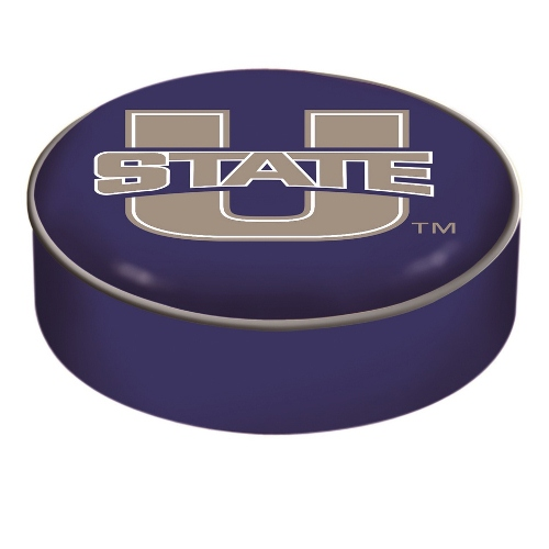 NCAA Bar Stool Seat Cover by Holland Bar Stool - Utah State University