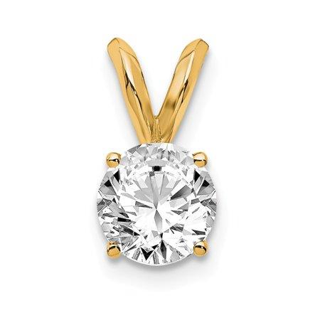 14k Yellow Gold 1/2ct. Round Lab Grown Diamond VS/SI, D-E Solitaire (Si Solitaire Pendant)