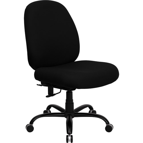 hercules series big and tall office task chair, black (holds up to