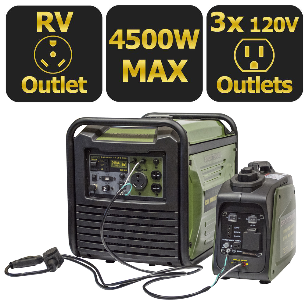 Sportsman 4,500 Surge Watts Gasoline Portable Inverter Generator Parallel Kit