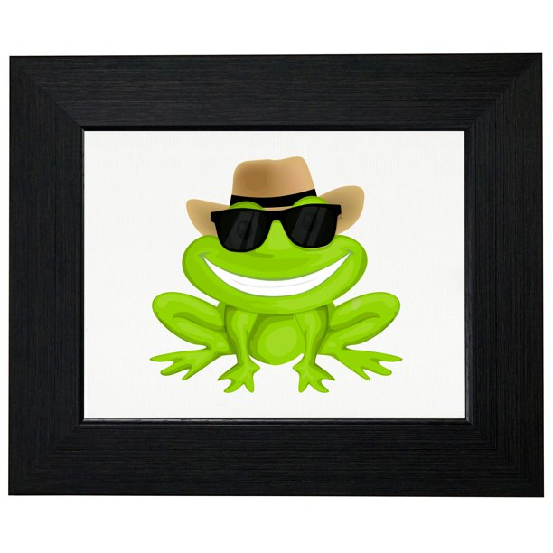 Cowboy Frog With Cool Sunglasses Froggy Framed Print Poster Wall Or Desk Mount Options Walmart Com Walmart Com