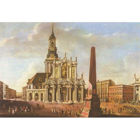 Framed Art for Your Wall Meyer, Johann Friedrich - Potsdam, St. Nicholas Church at the Old Market with its baroque facade 10 x 13 (Myer Market Street)