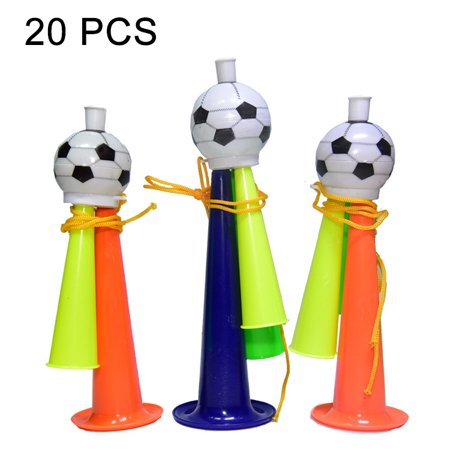 20 PCS European Cup World Cup Football Game Props Horn 3 Tones Football Horn Children Toy with Lanyard, Length: 22cm, Random Color Delivery - Air Horns For Football Games