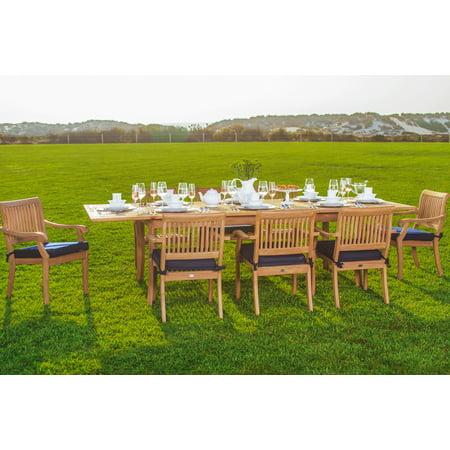 Tfo Large Arbor (Teak Dining Set:8 Seater 9 Pc - Large 117