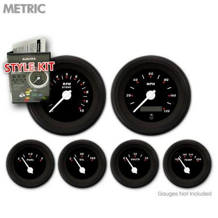 Style Kit - Metric Modern Rodder Black , White Classic Needles, Black