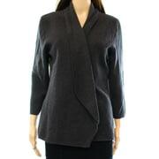 Alfani NEW Gray Women Medium M Shawl Collar Open Front Cardigan Sweater
