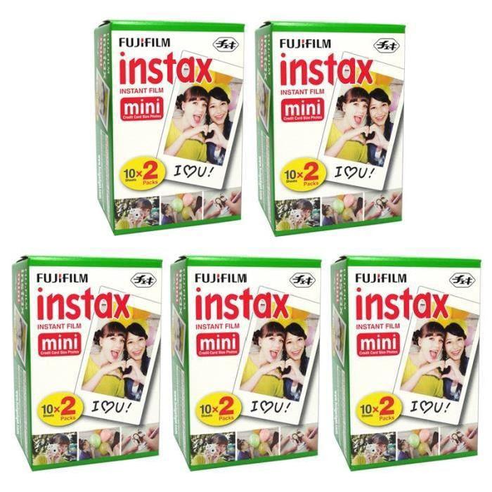 Fuji Fujifilm Instax Mini White 100 Film for 7s 8 25 50s ...