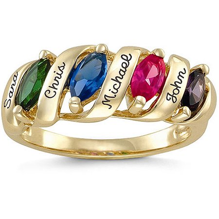 Keepsake family story ring 10kt simulated for Walmart jewelry mothers rings