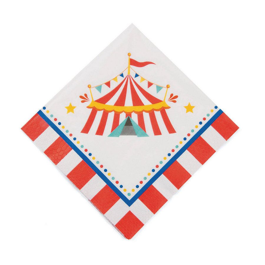 Fun Express 13652438 Carnival Luncheon Napkins