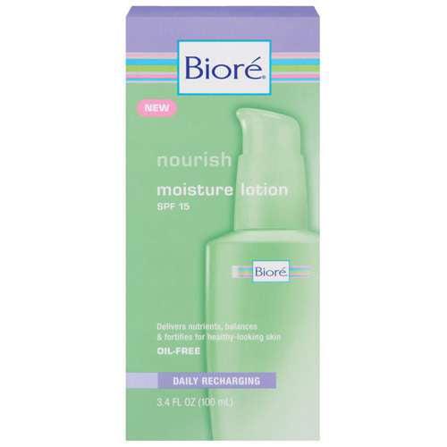 Biore Nourish SPF 15 Moisture Lotion, 3.4 fl oz