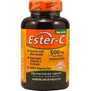American Health Ester-C 500mg with Citrus Bioflavonoids, Veggie Tablets, 225 ea