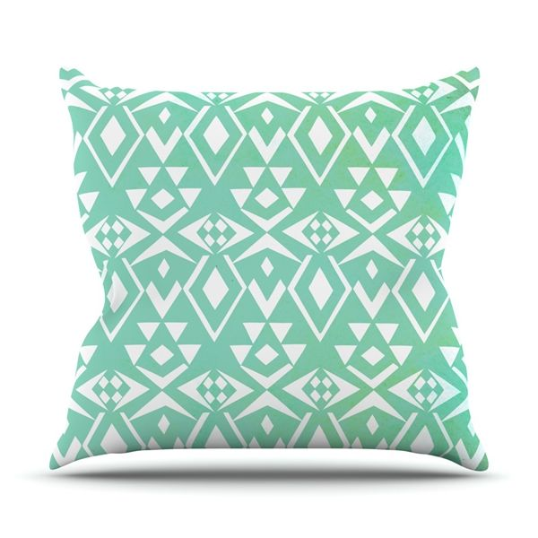 Kess InHouse Pom Graphic Design Ancient Tribe Throw Decorative Pillow 18-in 18-in